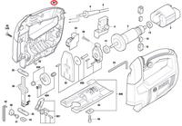 Carcaça do Motor Serra Tico-tico GST 650 Bosch Original