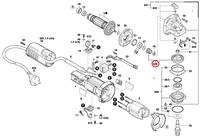 Jogo de Engrenagens Esmerilhadeira GWS 9-125 Bosch Original