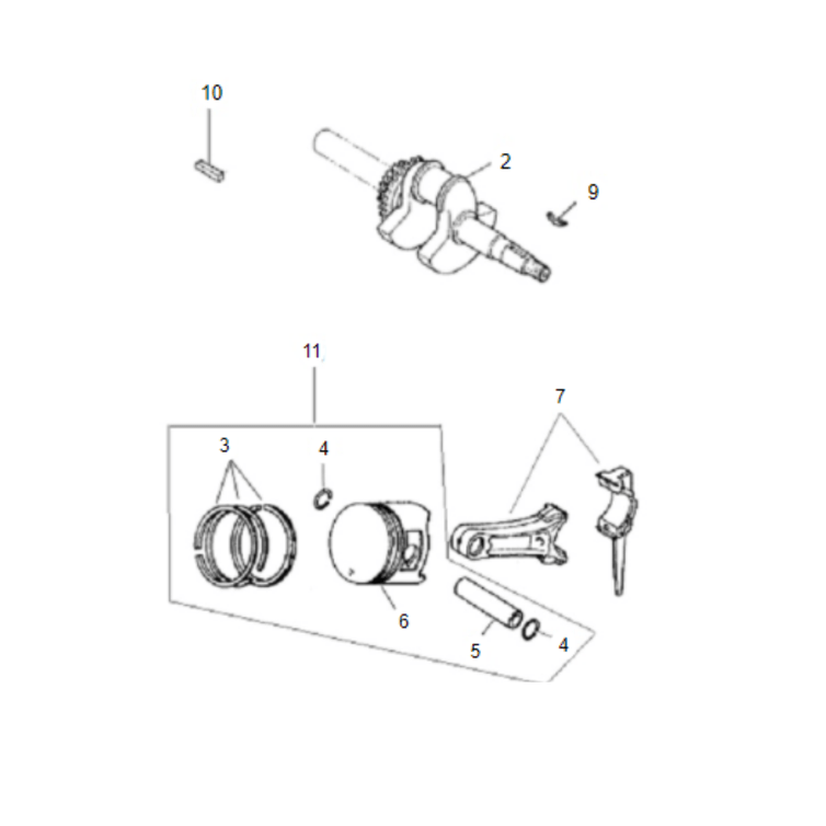 Eixo e Virabrequim Motor Gasolina B4T 5.5/6,5