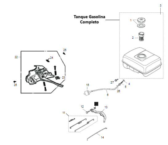 Tanque Motor Gasolina B4T 5,5/6,5