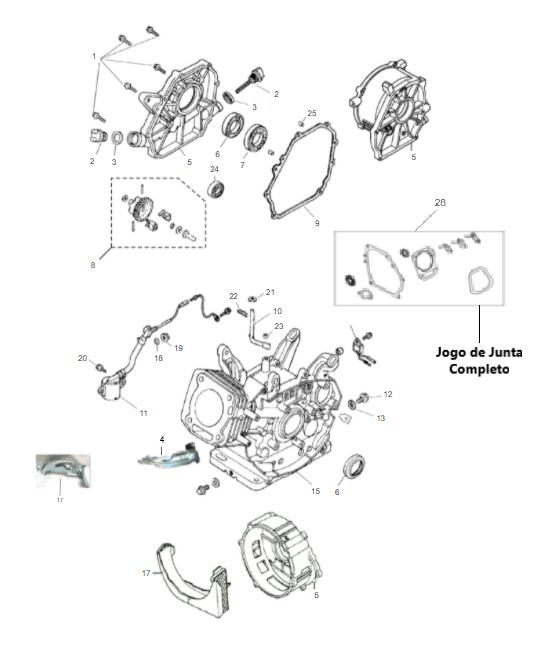 Carcaça / Cilindro Motor Gasolina B4T 5,5/6,5