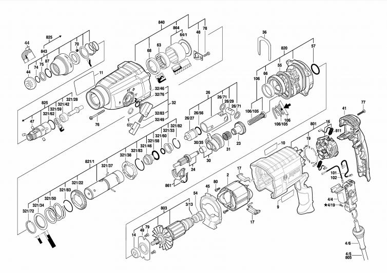 Martelo perfurador Bosch GBH 2-24D
