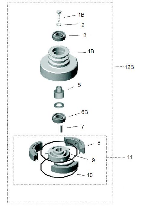 Embreagem Motor Gasolina B4T 5,5/6,5