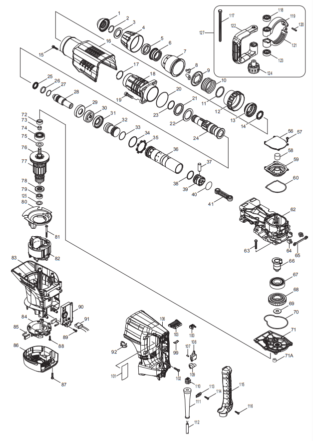 Martelo Demolidor HM1203C