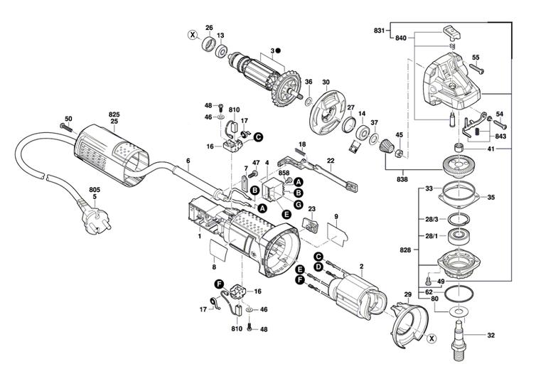 Esmerilhadeira GWS 9-125 Bosch