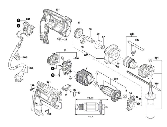 Furadeira de impacto Bosch GSB 16 RE - Modelo Novo