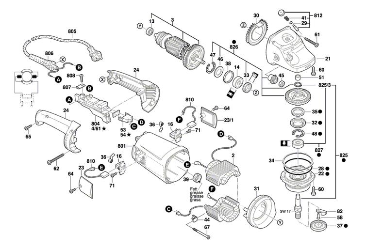 Esmerilhadeira Angular GWS 20-180 Bosch