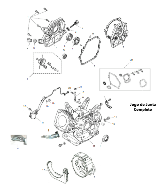 Carcaça / Cilindro Motor Gasolina B4T 13.0
