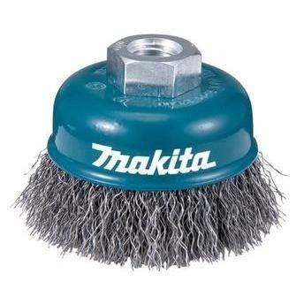 Escova de aço copo 75mm m14 fio ondulado Makita