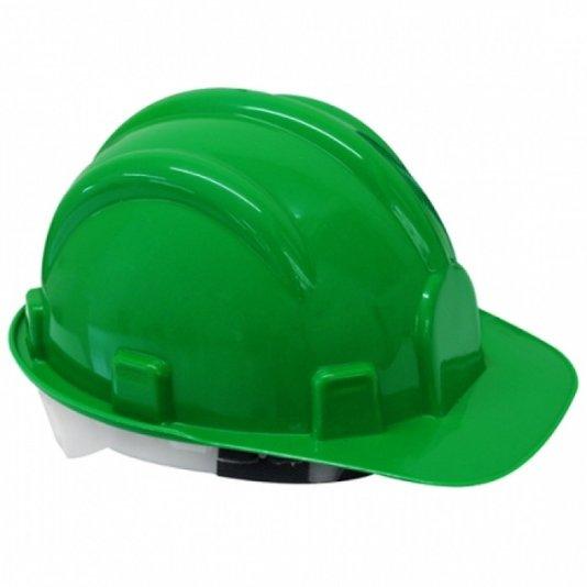 Capacete de segurança para obra verde com carneira Vonder