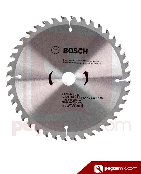 Disco de serra Bosch Ecoforwoord 7.1/4 x 40D
