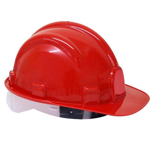 Capacete de segurança para obra vermelho com carneira Vonder