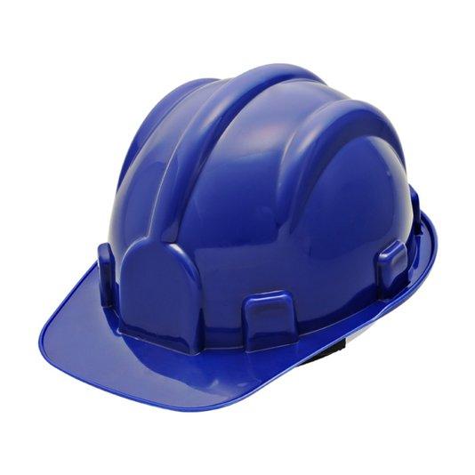 Capacete de segurança para obra azul com carneira Vonder