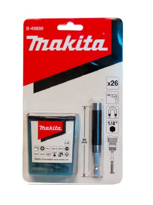 Conjunto bits com porta bit 120mm com 26 peças Makita