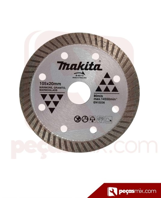 Disco diamantado turbo 105x20mm. Makita