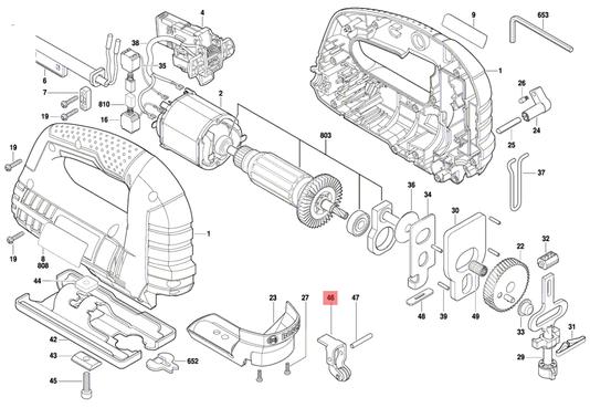 Alavanca Rolete Serra Tico-tico GST 75 E Bosch Original
