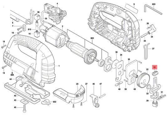 Bloco de Rolamento Serra Tico-tico GST 75 E Bosch Original