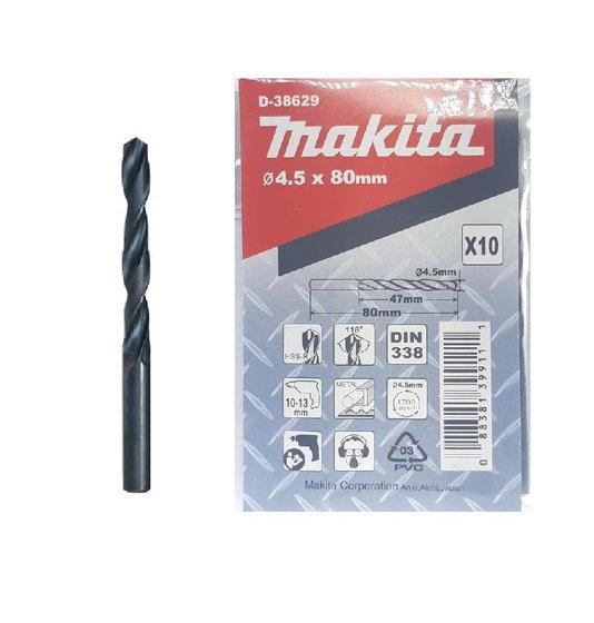 Broca Aço/Metal Makita 4.5mm HSS-R c/ 10 unidades