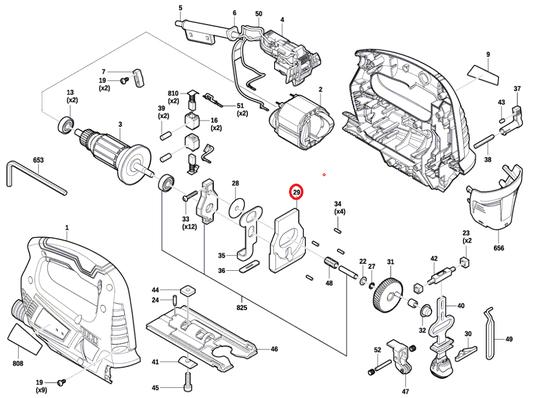 Contrapeso Serra Tico-tico GST 700 Bosch Original
