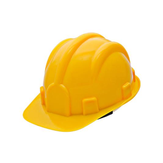 Capacete de segurança para obra amarelo com carneira Vonder