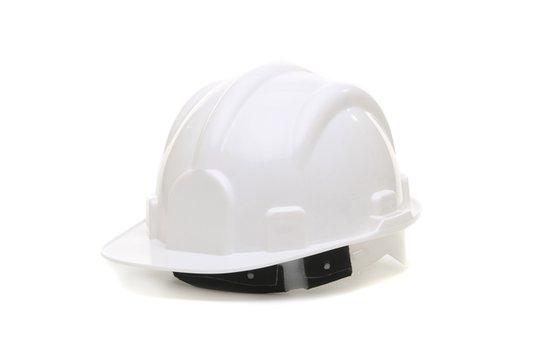 Capacete de segurança para obra branco com carneira Vonder