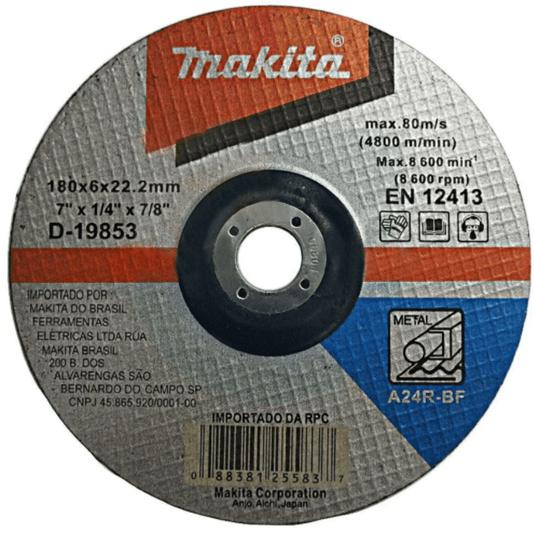 "Disco de Desbaste Metal Esmerilhadeira 7"" Makita"