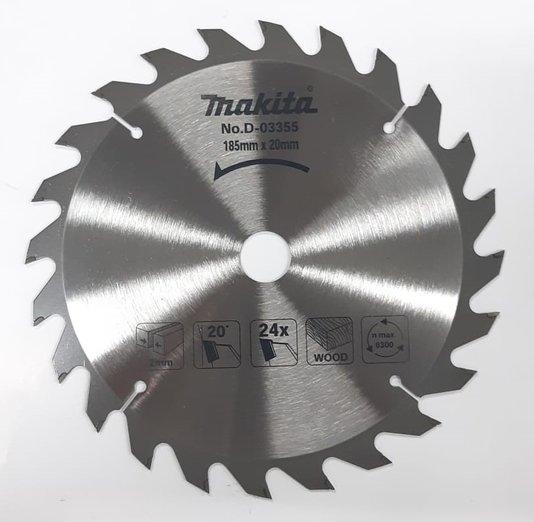 Disco Lâmina Madeira Serra Circular 185mm 24D Makita 7.1/4''