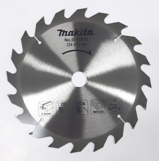 Disco Lâmina Madeira Serra Circular 235mm 20D Makita 9.1/4''