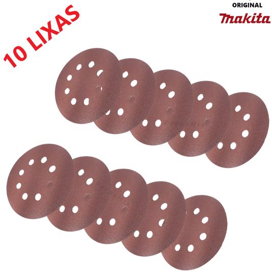 Disco Lixadeira Velcro 125mm Grão 120 Makita com 10 pçs