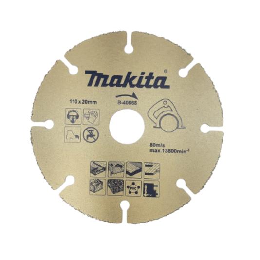 Disco Serra Madeira Makita 110x20mm uso em Serra Mármore