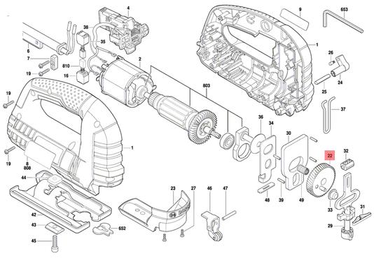 Engrenagem Serra Tico-tico GST 75 E Bosch Original