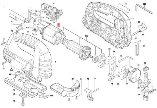 Estator Serra Tico-Tico GST 75 E Bosch 220V Original