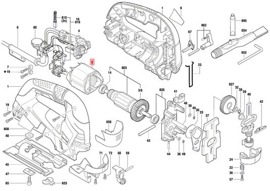 Estator Serra Tico-Tico GST 90 Bosch 220V Original