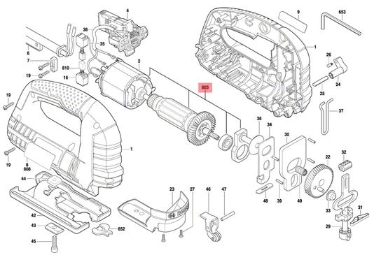 Induzido Serra Tico-Tico GST 75 E Bosch 220V Original