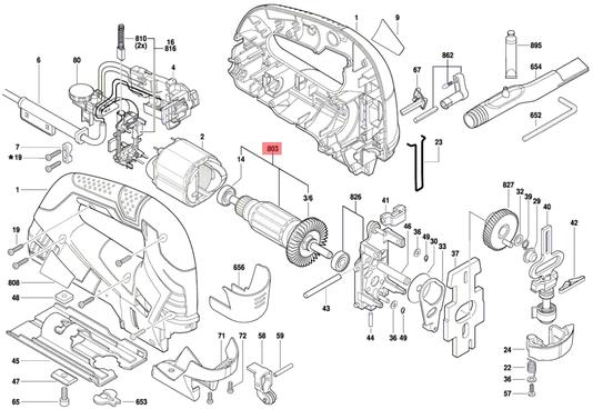 Induzido Serra Tico-Tico GST 90 Bosch 220V Original