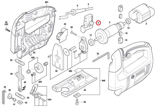 Interruptor Serra Tico-tico GST 650 Bosch Original