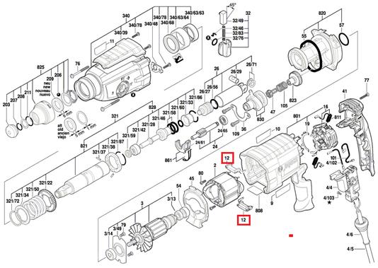 Modulo Adaptador Martelete GBH 2-28D Bosch Original