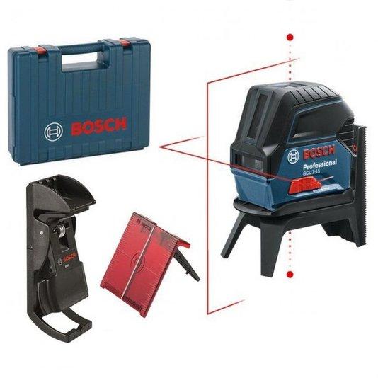 Nível Laser de Linhas Bosch GCL 2-15 com Gancho e Maleta