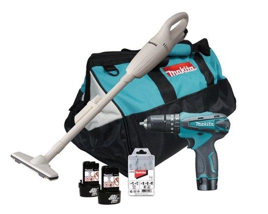 Parafusadeira + Aspirador de pó a Bateria 12v Makita (Kit)