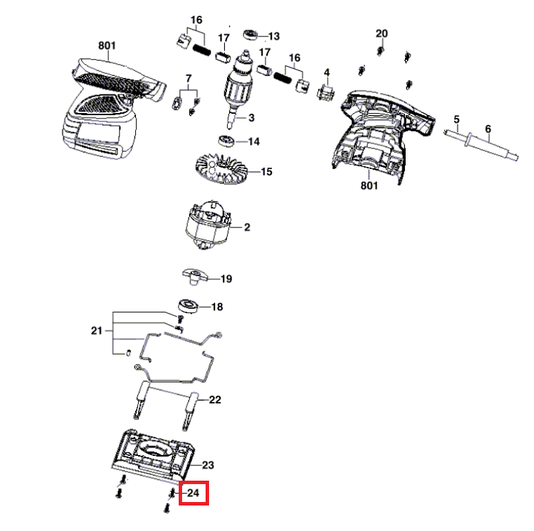 Parafuso Chapa ST 3,5x13 Lixadeira Orbital 7232AB Skil