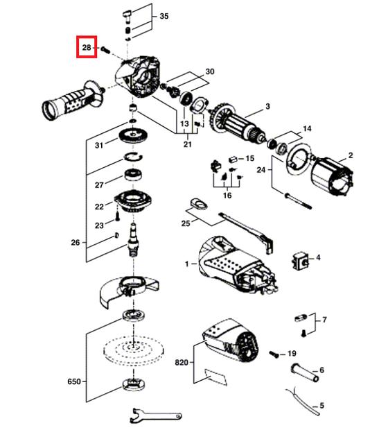 Parafuso da Regulagem Esmerilhadeira 9002/9004 Skil Original
