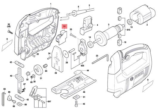 Regulador Velocidade Serra Tico-tico GST 650 Bosch Original