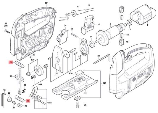 Retentor Serra Tico-tico GST 650 Bosch Original