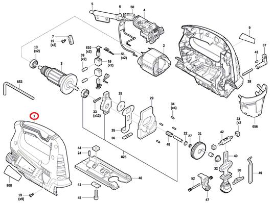 Segmento Carcaça Serra Tico-tico GST 700 Bosch Original