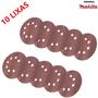Disco Lixadeira Velcro 125mm Grão 180 Makita com 10 pçs